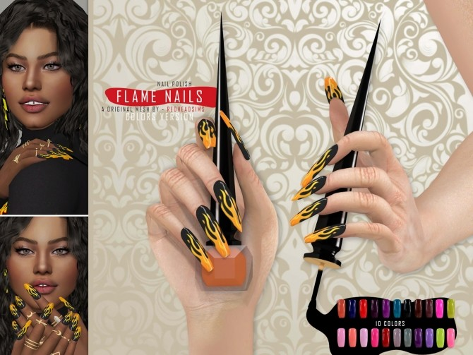 MINI COLLETION NAILS by Thiago Mitchell at REDHEADSIMS image 3001 670x503 Sims 4 Updates