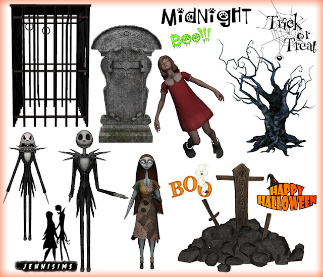 Halloween Clutter Creepy Friends 7 Items at Jenni Sims image 3002 Sims 4 Updates