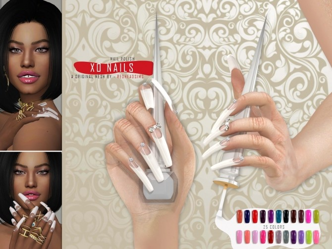 MINI COLLETION NAILS by Thiago Mitchell at REDHEADSIMS image 3013 670x503 Sims 4 Updates