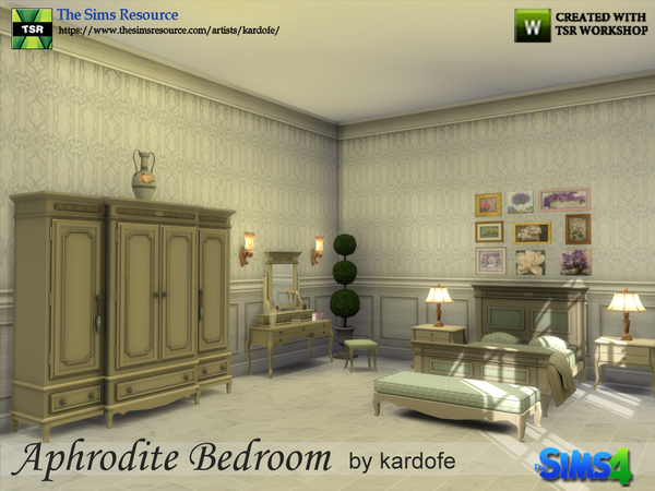 Aphrodite Bedroom by kardofe at TSR image 3014 Sims 4 Updates