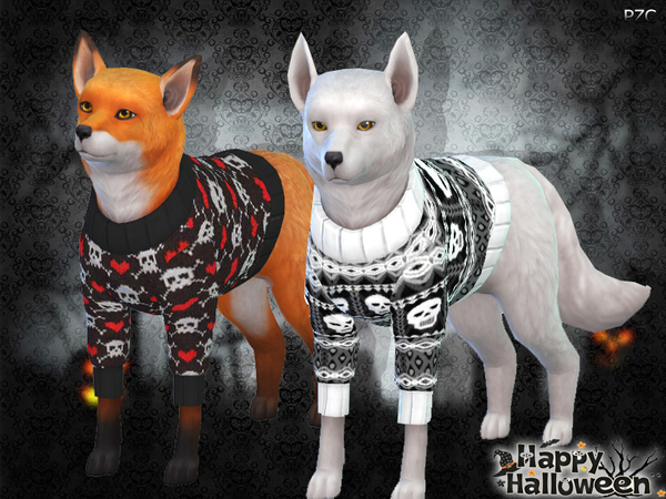 Halloween Sweaters For Small Dogs by Pinkzombiecupcakes at TSR image 3023 Sims 4 Updates