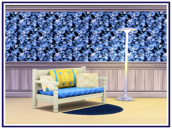 Blue Abstracts Walls by marcorse at TSR image 3107 Sims 4 Updates