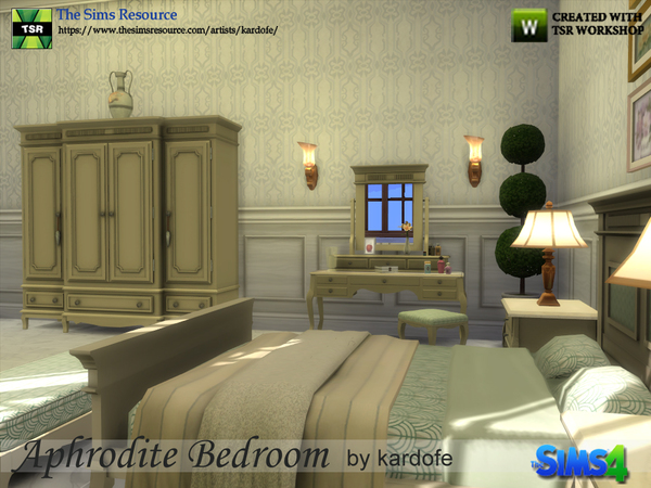 Aphrodite Bedroom by kardofe at TSR image 3115 Sims 4 Updates