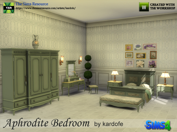 Aphrodite Bedroom by kardofe at TSR image 3215 Sims 4 Updates