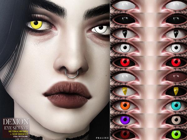 Sims 4 ND Demon Eyes V/3 (+Heterochromia) N144 by Pralinesims at TSR