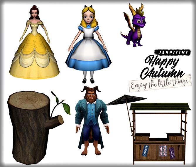 Sims 4 Beast, Beauty, Spyro, Alice...kids Clutter 6 Items at Jenni Sims