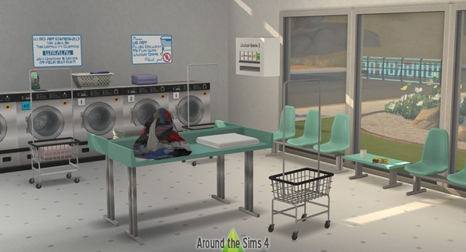 Laundromat by Sandy at Around the Sims 4 image 3301 670x363 Sims 4 Updates