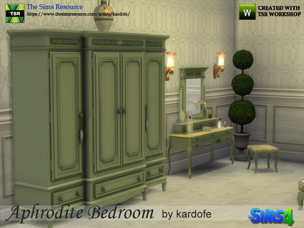 Sims 4 Aphrodite Bedroom by kardofe at TSR