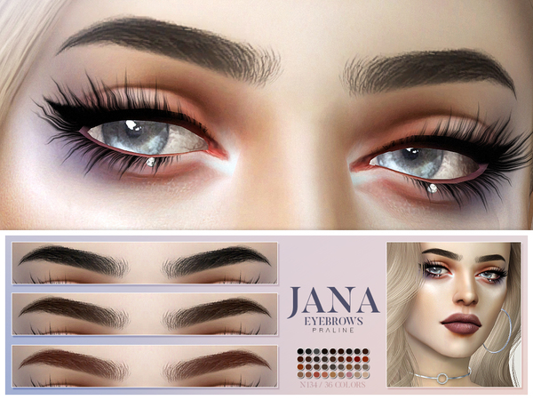 Jana Eyebrows N134 by Pralinesims at TSR image 351 Sims 4 Updates