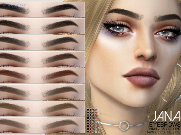 Jana Eyebrows N134 by Pralinesims at TSR image 361 Sims 4 Updates