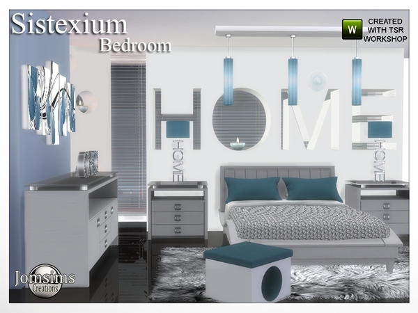 Sims 4 Sistexium bedroom by jomsims at TSR