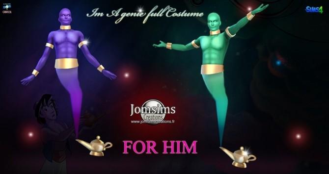Genie Lamp Full Costume At Jomsims Creations 187 Sims 4 Updates