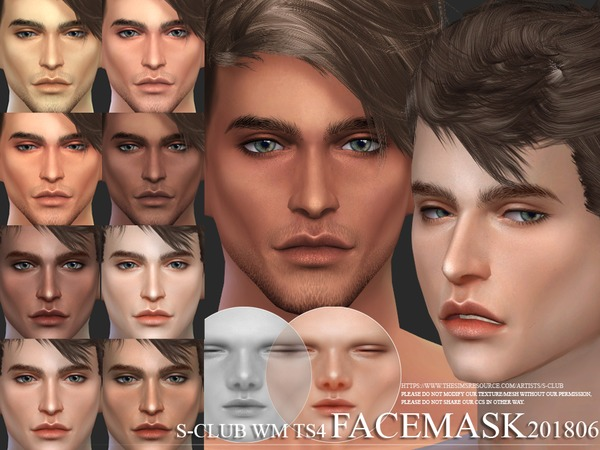Facemask 201806 by S Club WM at TSR image 3710 Sims 4 Updates