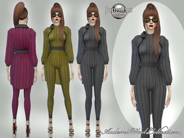 Asdemi wool outfit and coat by jomsims at TSR image 3712 Sims 4 Updates