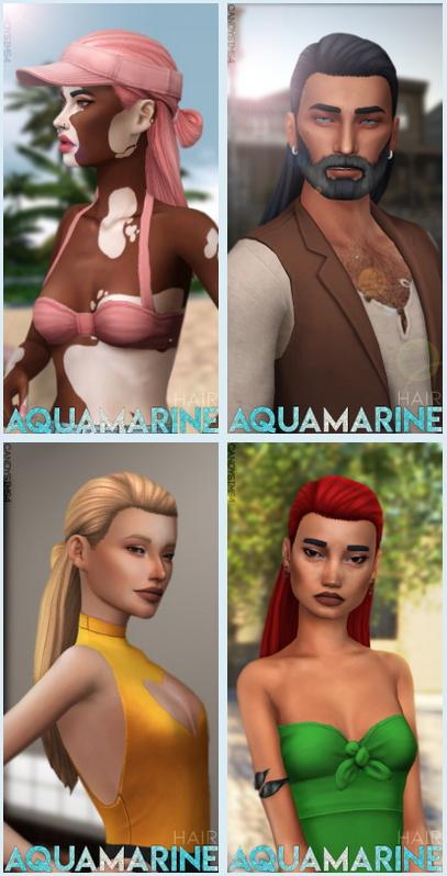 AQUAMARINE HAIR at Candy Sims 4 image 3721 Sims 4 Updates