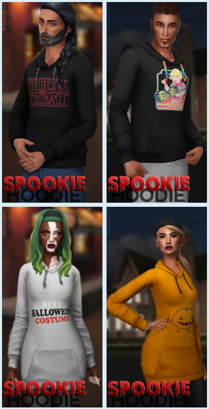 Sims 4 SPOOKIE HOODIE at Candy Sims 4