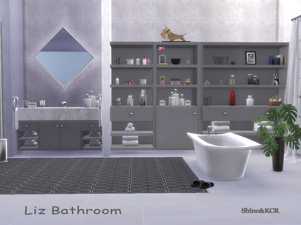 Bathroom Liz by ShinoKCR at TSR image 3810 Sims 4 Updates