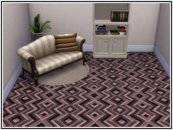 Sims 4 Inlaid Parquetry Flooring by marcorse at TSR