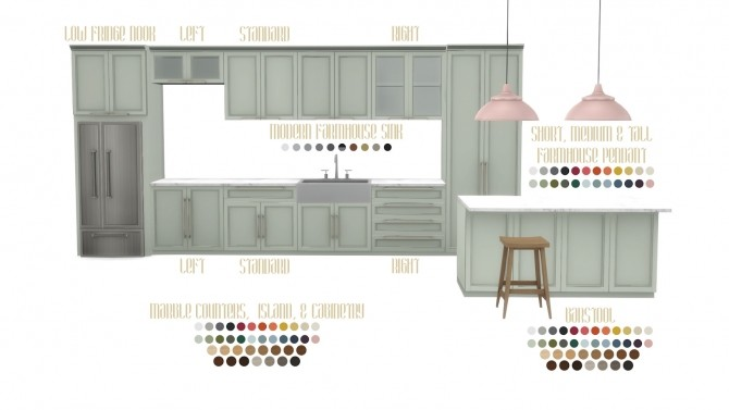 Mina Kitchen Contemporary Shaker Style at Simsational Designs image 39110 670x377 Sims 4 Updates