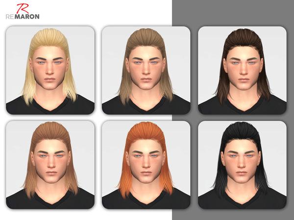 Sims 4 Thunder Hair Retexture by remaron at TSR