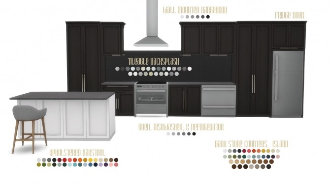 Mina Kitchen Contemporary Shaker Style at Simsational Designs image 3925 670x377 Sims 4 Updates