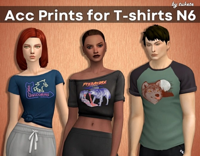 Acc Prints for T shirts Part 6 at Tukete image 3931 670x524 Sims 4 Updates