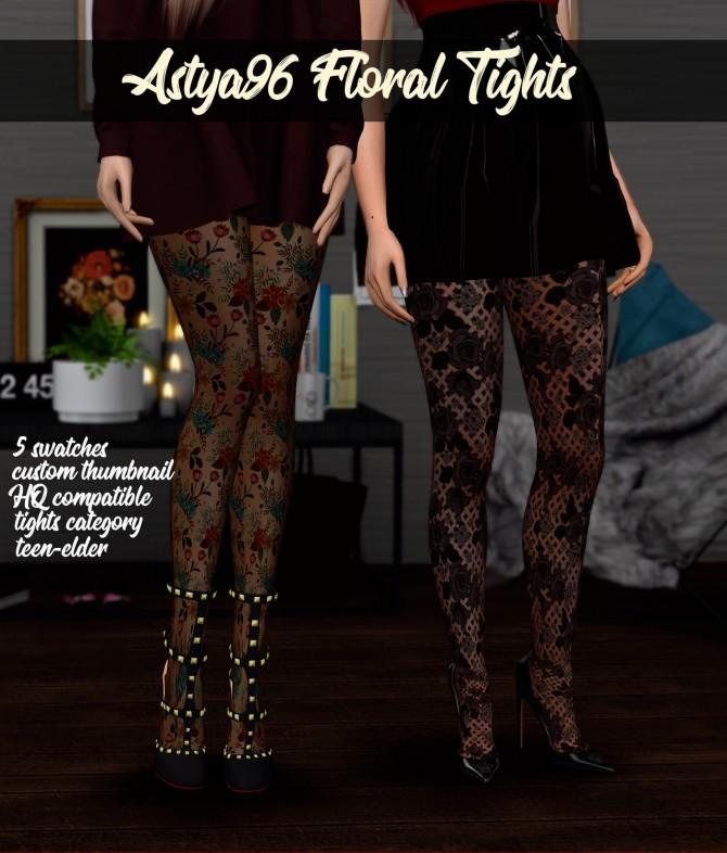 Sims 4 Floral Tights at Astya96