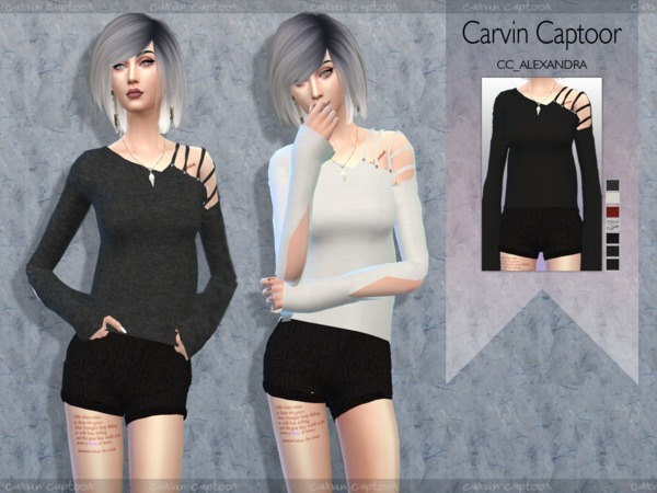Sims 4 Alexandra II outfit by carvin captoor at TSR