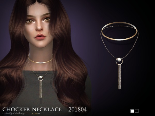 Sims 4 Necklace F 201805 by S Club LL at TSR