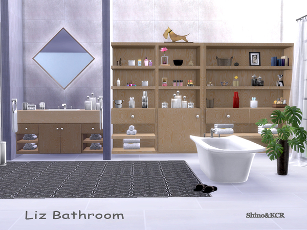 Bathroom Liz by ShinoKCR at TSR image 407 Sims 4 Updates