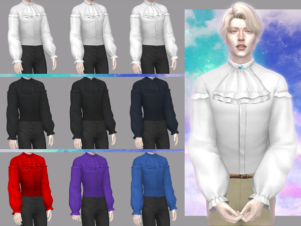 Sims 4 Gentlemens fortune male shirt by WistfulCastle at TSR