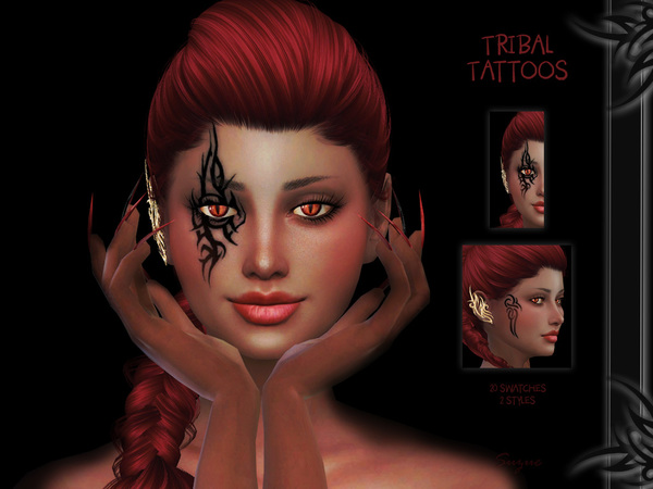 Sims 4 Tribal Tattoos by Suzue at TSR