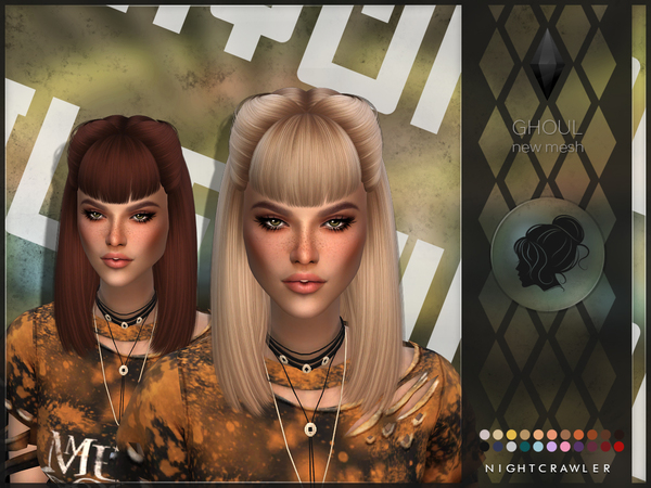 Ghoul hair by Nightcrawler Sims at TSR image 4122 Sims 4 Updates