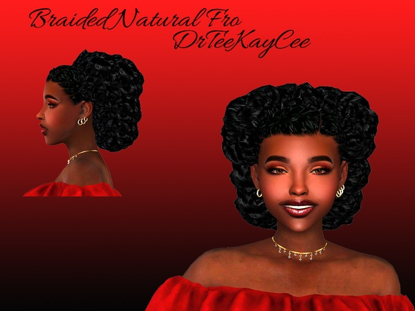 Sims 4 Braid with Fro by drteekaycee at TSR