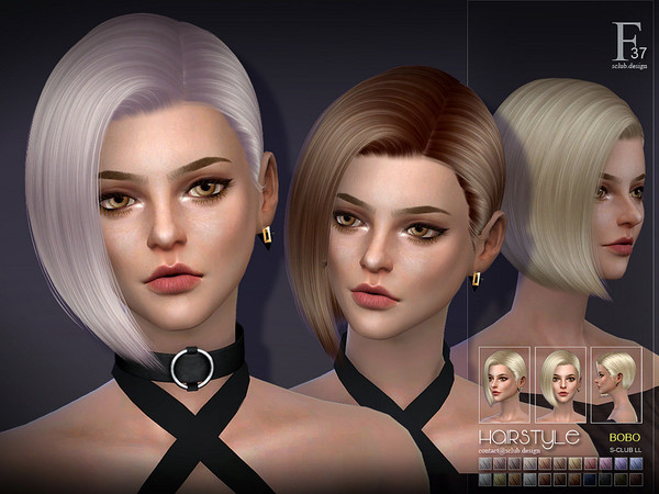Hair bobo n37 by S Club at TSR image 421 Sims 4 Updates