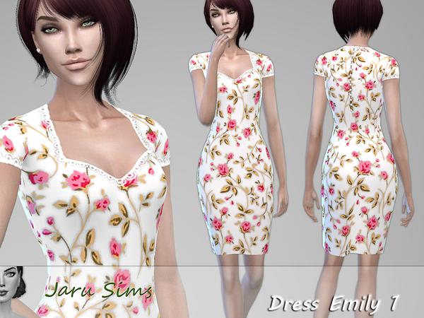 Sims 4 Dress Emily 1 by Jaru Sims at TSR