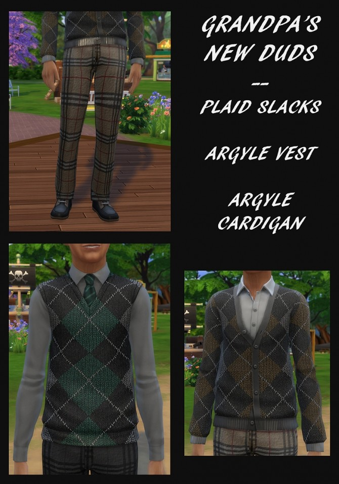 Sims 4 Grandpas New Duds set by Simmiller at Mod The Sims