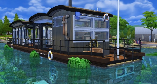Sims 4 A barge for a house ? Welcome home by valbreizh at Mod The Sims