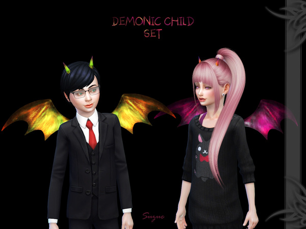Sims 4 Demonic Child Set by Suzue at TSR