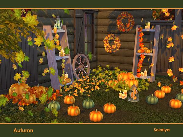 Autumn decorative set by soloriya at TSR image 455 Sims 4 Updates