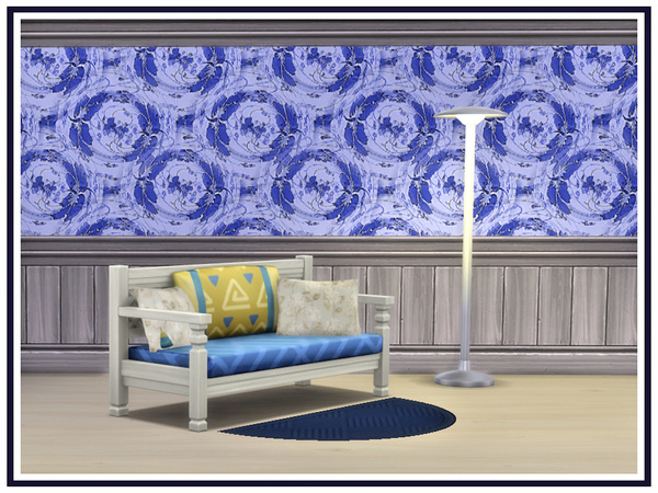 Sims 4 Blue Abstracts Walls by marcorse at TSR