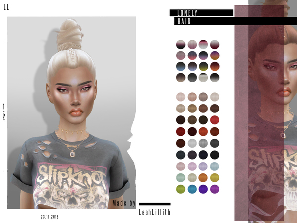 Lonely Hair by LeahLillith at TSR image 4615 Sims 4 Updates