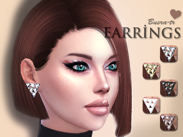 Sims 4 Earrings by busra tr at TSR