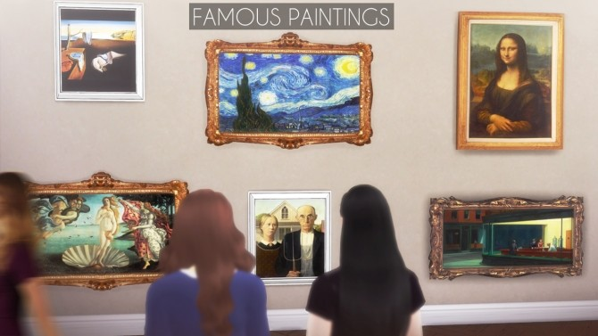 Famous Paintings at Descargas Sims image 468 670x377 Sims 4 Updates