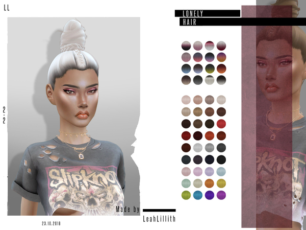 Lonely Hair by LeahLillith at TSR image 4715 Sims 4 Updates
