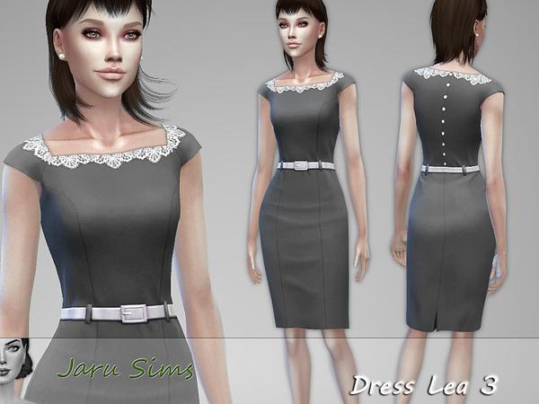 Sims 4 Dress Lea 3 by Jaru Sims at TSR