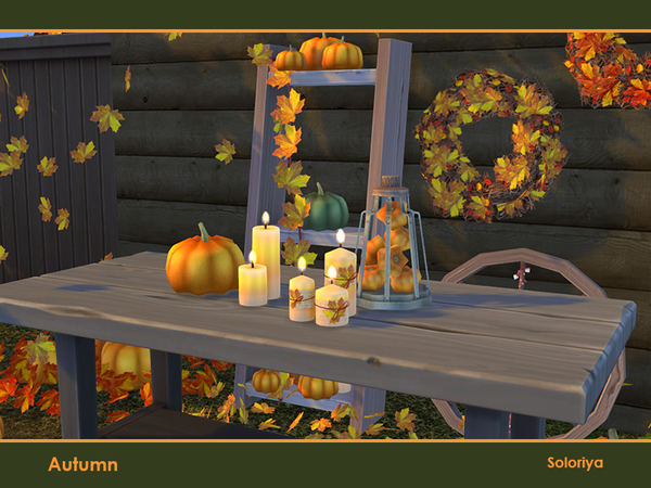 Autumn decorative set by soloriya at TSR image 475 Sims 4 Updates