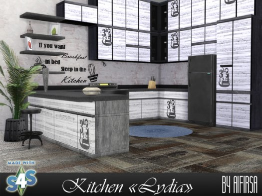 Sims 4 Lydia kitchen at Aifirsa