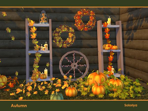 Autumn decorative set by soloriya at TSR image 485 Sims 4 Updates
