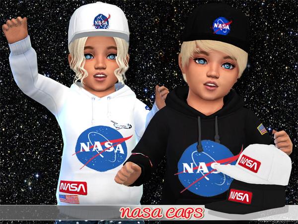 Sims 4 Nasa Cap For Toddlers by Pinkzombiecupcakes at TSR